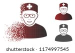 head physician icon with face... | Shutterstock .eps vector #1174997545