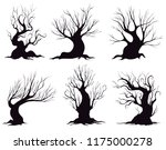 set of different silhouettes of ... | Shutterstock .eps vector #1175000278