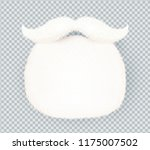 white furry vector santa claus... | Shutterstock .eps vector #1175007502