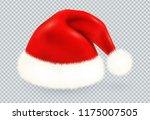 red santa claus vector winter... | Shutterstock .eps vector #1175007505