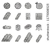 Logging And Wood Icon Set With...