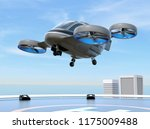 metallic gray passenger drone... | Shutterstock . vector #1175009488