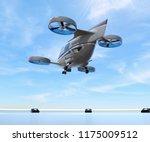 metallic gray passenger drone... | Shutterstock . vector #1175009512
