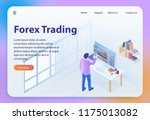 forex trading. online bitcoin... | Shutterstock .eps vector #1175013082