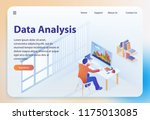 data analysis. big data... | Shutterstock .eps vector #1175013085