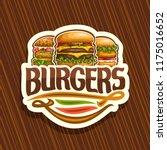 vector logo for burgers  white... | Shutterstock .eps vector #1175016652