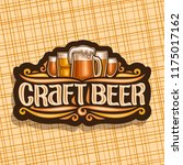 vector logo for craft beer ... | Shutterstock .eps vector #1175017162