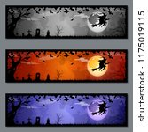 halloween colorful horizontal... | Shutterstock .eps vector #1175019115