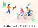 physical activity and leisure... | Shutterstock .eps vector #1175019145