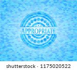 appropriate sky blue emblem... | Shutterstock .eps vector #1175020522