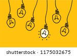 several lamps hanging from... | Shutterstock .eps vector #1175032675