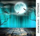 spooky halloween background... | Shutterstock . vector #1175039665