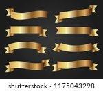 ribbon banner set. golden... | Shutterstock .eps vector #1175043298