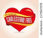 cholesterol icon vector. zero... | Shutterstock .eps vector #1175047078