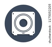 subwoofer icon in badge style....