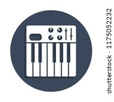 synthesizer icon in badge style....
