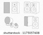 vector isolated outline...   Shutterstock .eps vector #1175057608