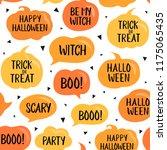 seamless pattern  halloween... | Shutterstock .eps vector #1175065435