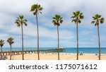 palm trees and pier on... | Shutterstock . vector #1175071612