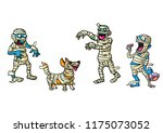 illustration with four... | Shutterstock .eps vector #1175073052