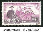 maritime mail  spain circa 1966 ... | Shutterstock . vector #1175073865