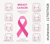 breast cancer awareness month... | Shutterstock .eps vector #1175075428