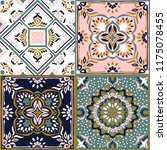 talavera pattern.  indian... | Shutterstock .eps vector #1175078455