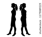 vector silhouette of slim and... | Shutterstock .eps vector #1175089225