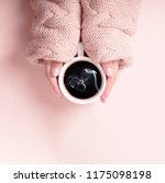 woman with a cup of fragrant... | Shutterstock . vector #1175098198