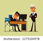 tired office worker man... | Shutterstock .eps vector #1175104978