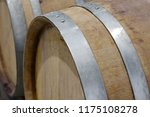 wine barrels in wine vaults in...   Shutterstock . vector #1175108278