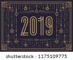 vector merry christmas banner... | Shutterstock .eps vector #1175109775