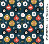 christmas seamless pattern with ... | Shutterstock .eps vector #1175118412
