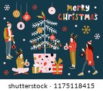 christmas greeting card with... | Shutterstock .eps vector #1175118415