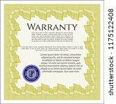 yellow formal warranty... | Shutterstock .eps vector #1175122408