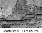 the texture of concrete was...   Shutterstock . vector #1175123698