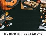 halloween sweets  halloween... | Shutterstock . vector #1175128048