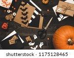 halloween pumpkin  sweets ... | Shutterstock . vector #1175128465