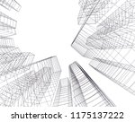 architectural drawing.... | Shutterstock .eps vector #1175137222
