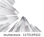 architectural drawing.... | Shutterstock .eps vector #1175139322