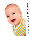 happy little baby isolated on... | Shutterstock . vector #1175159878