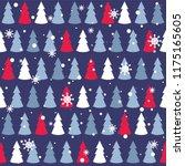 seamless pattern with fir trees ... | Shutterstock .eps vector #1175165605