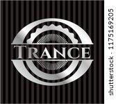 trance silvery shiny badge   Shutterstock .eps vector #1175169205