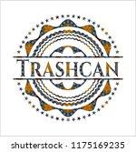 trashcan arabic style emblem.... | Shutterstock .eps vector #1175169235