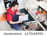 professional worker estimating... | Shutterstock . vector #1175169952