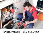 professional worker repairing... | Shutterstock . vector #1175169955