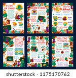back to school autumn education ... | Shutterstock .eps vector #1175170762