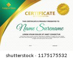 certificate template with... | Shutterstock .eps vector #1175175532