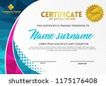 certificate template with... | Shutterstock .eps vector #1175176408