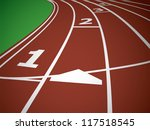 start track. lines on a red... | Shutterstock .eps vector #117518545